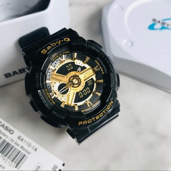 fd77a479763a BABY-G Accessories - Casio Women s Baby-G BA110-1A Black Quartz Watch